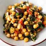 ust try this Mediterranean vegetarian dinner recipe with chickpeas and feta cheese! If you love garbanzo beans and got some canned chickpeas and fresh vegetables to use up - you are going to love this healthy meal! This is a one-pan Mediterranean chickpea dinner recipe, it's ready in about 15 minutes, it's healthy, and tastes AMAZING.