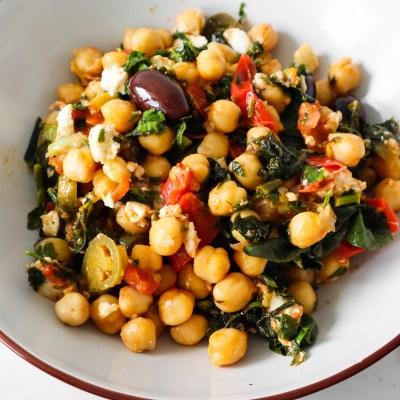One-Pan Mediterranean Chickpea  Dinner