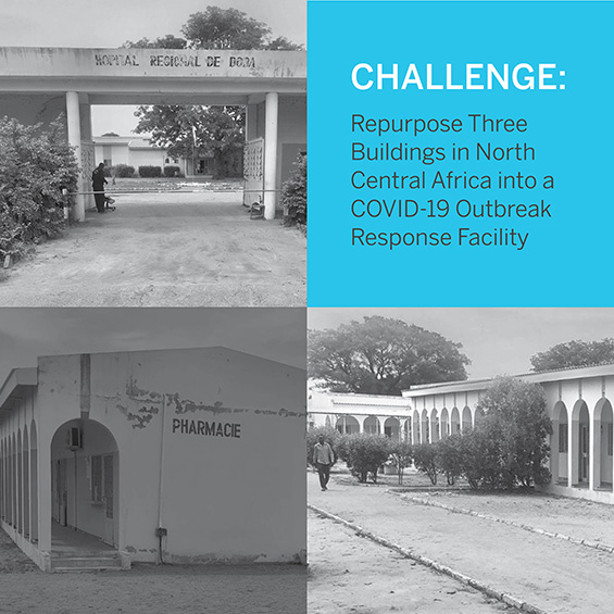 Exterior view of the COVID-19 Outbreak Response Facility