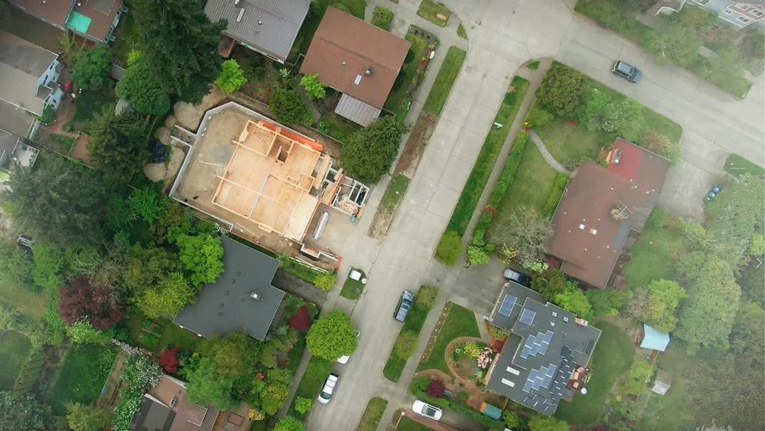 Bilde av et boligområde hvor det er en detaljert reguleringsplan som beskriver hva du bør tenke om tiltaket ditt.