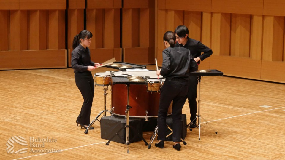 アンコン函館地区大会・打楽器三重奏