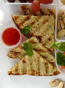 sesame-toast-clever packed lunch