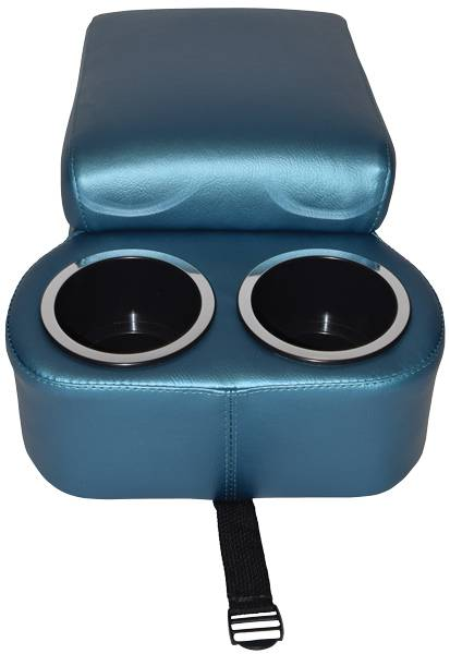 Bench Seat Console Bright Blue For 1975 1981 Camaro H Amp H