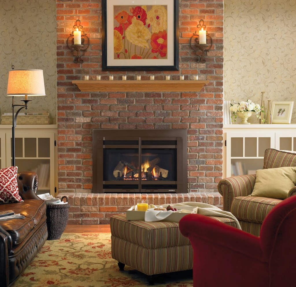 Red Brick Fireplaces