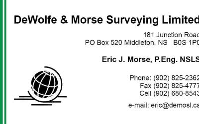 Bronze Sponsor – DeWolfe and Morse Surveyors