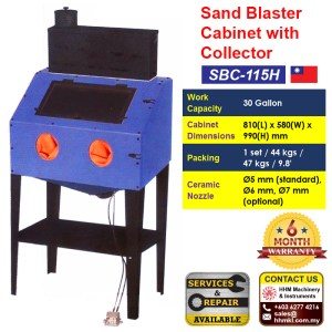 Sand Blaster Cabinet With Collector SBC-115H