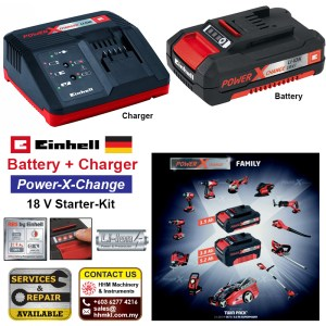 Battery and Charger Power-X-Change 18 V Starter-Kit