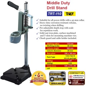 Middle Duty Drill Stand TRT-110