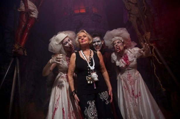 Tippi Hedren visits Universal Orlando Halloween Horror Nights