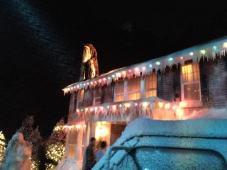 complete with Krampus on the roof