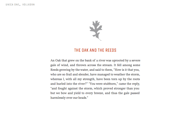 HAND-PICKED TALES from ÆSOP'S FABLES with HAND-PICKED TYPE from GOOGLE FONTS