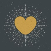 A heart radiating kindness
