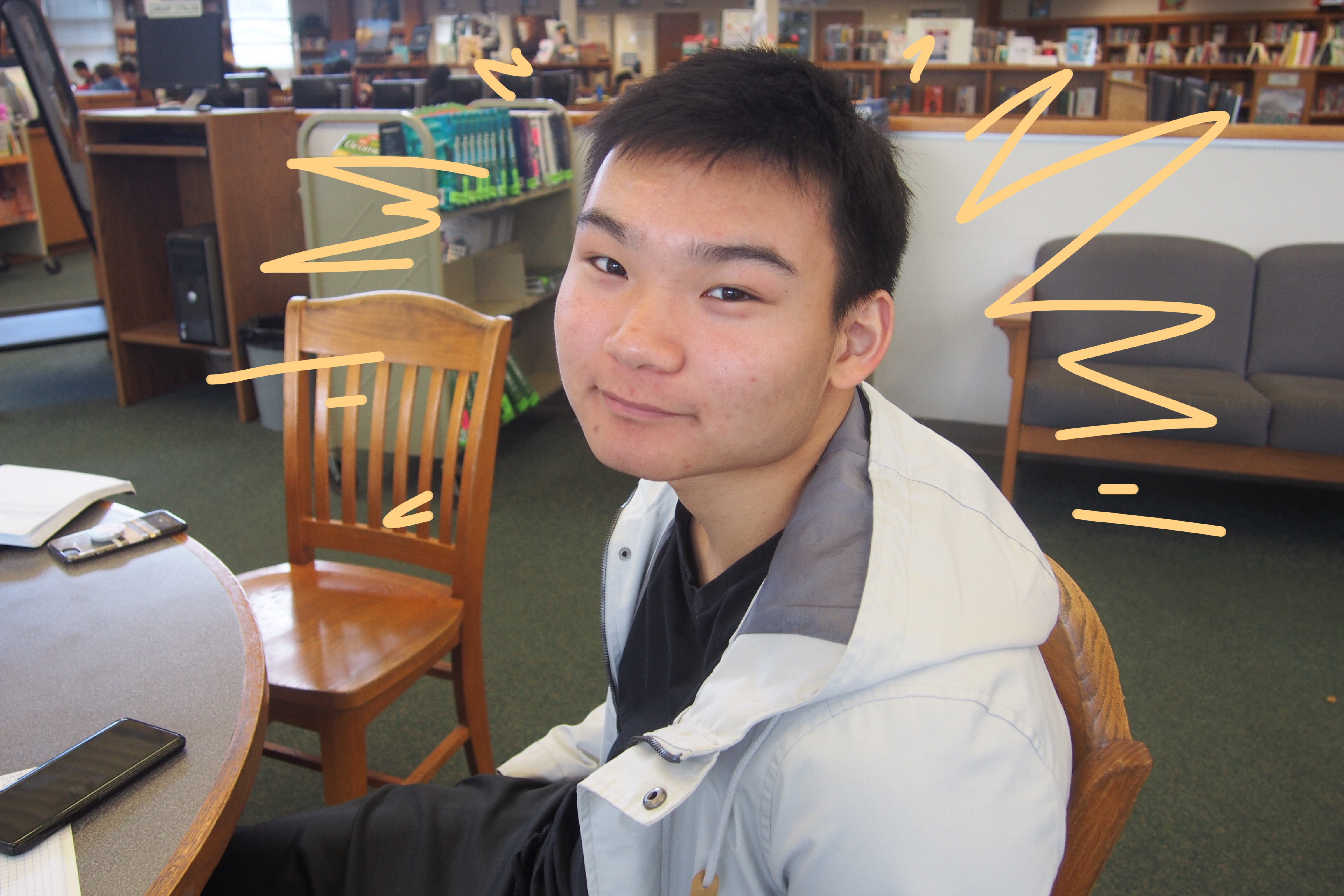 """Senior Kenneth Su said he has received acceptances from University of Michigan and Washington University, but he is still deciding where he will go. Wherever he ends up, he will pursue a degree in economics. """"Don't worry about colleges. Just live your life and show who you are in your [college] applications,"""" Su said as a word of advice for seniors next year."""