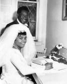 Reita and Dudley Morgan on their wedding day, Sudbury, Ontario, 1968. (Morgan Family Collection)