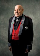 Reverend Joshua Phillpotts with medals honouring his lifelong service to others in 2011. (Joe Zasada)