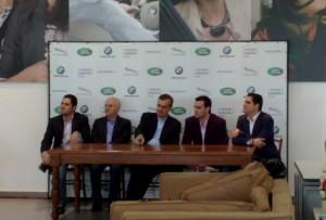 Diretores da Euro Motors durante inauguração oficial