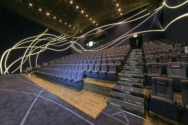 Sala de cinema do Aeroporto de Cingapura