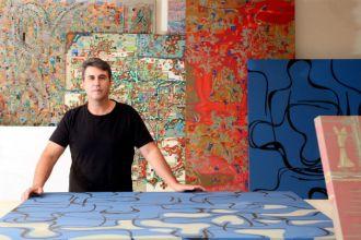 Beto Carrazone leva sua exposição 'Traços' para o Riopreto Shopping (Fotos: Ricardo Boni)