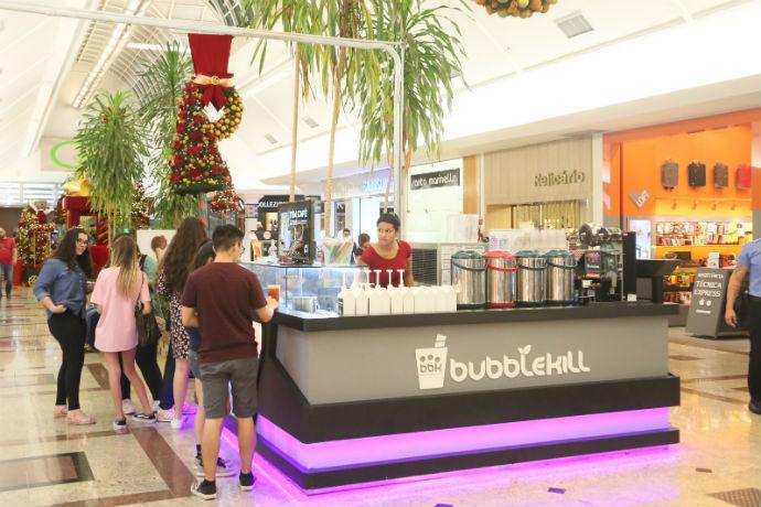 Quiosque Bubblekill no Riopreto Shopping