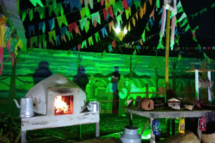 Decoração da festa junina do Clube Monte Líbano (Foto: Hi-Mundim)