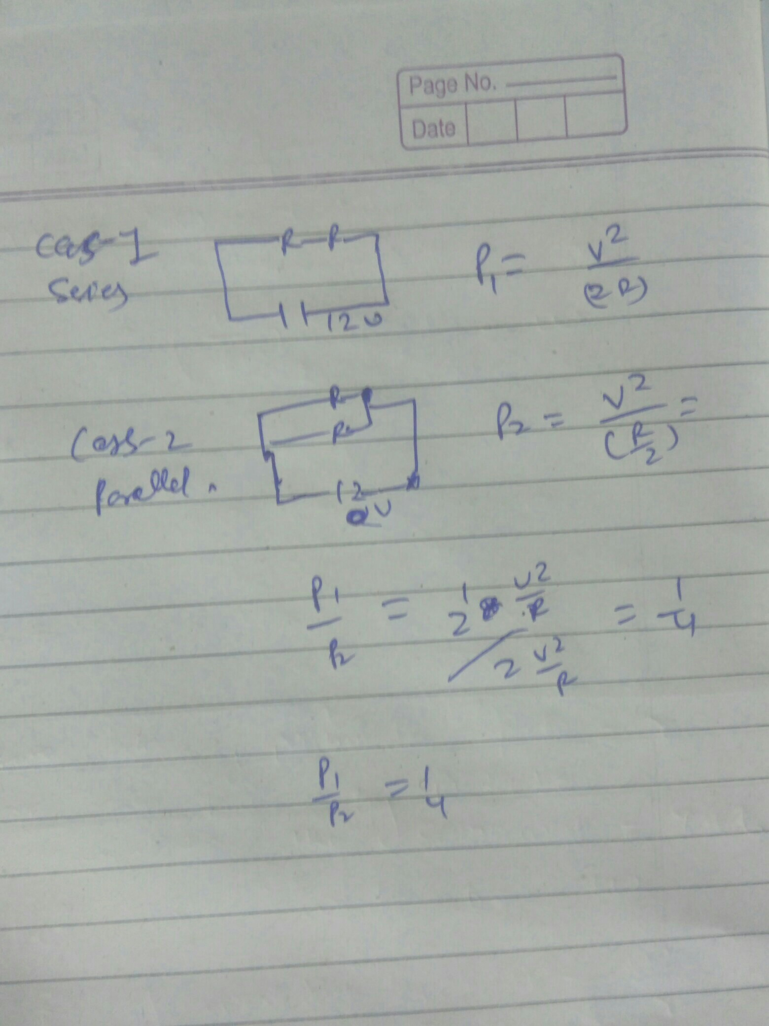 Two Identical Resistors Each Of Resistance 2 Ohm Are