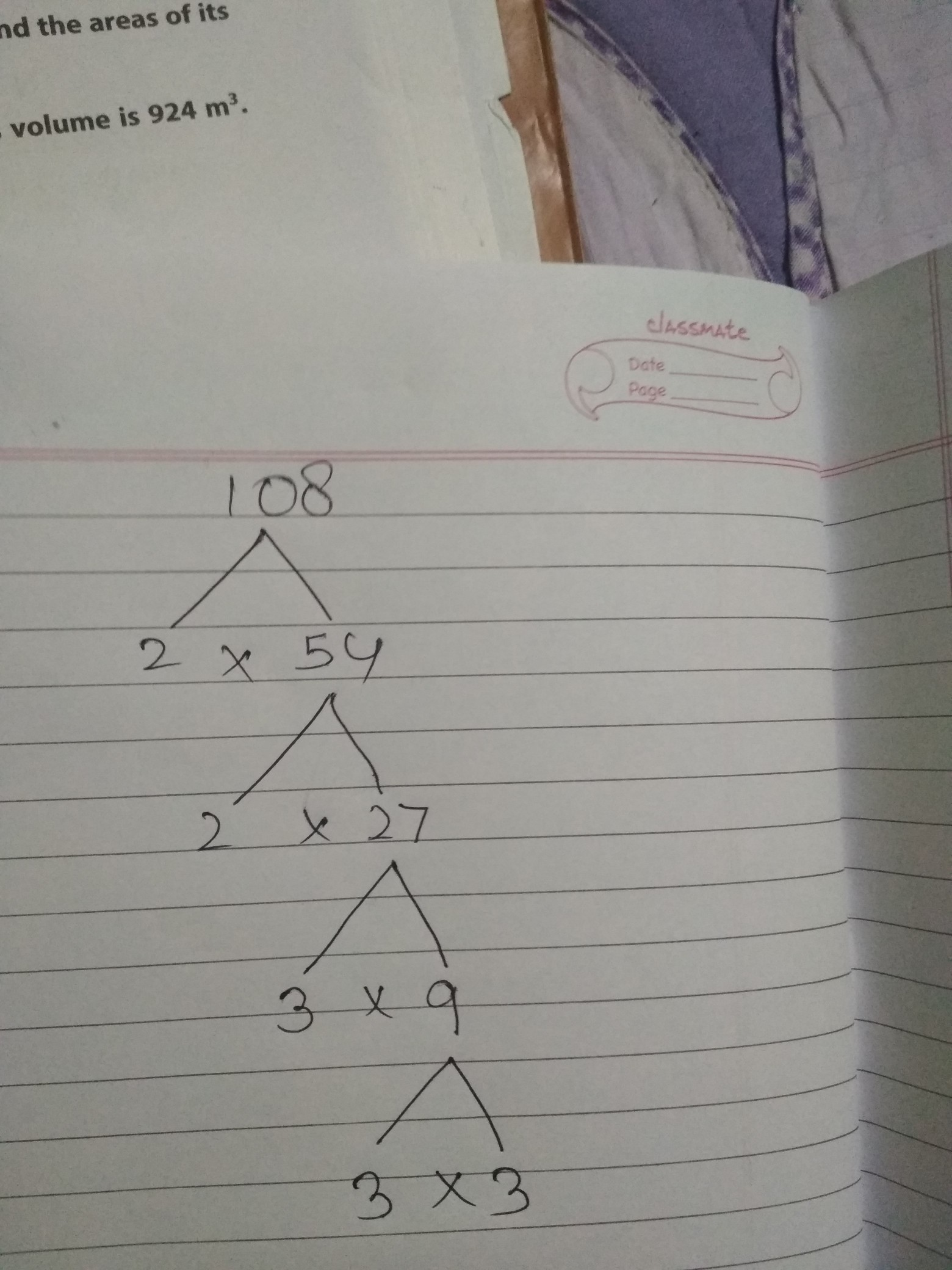 Find Prime Factorization Of 108 By Using The Factor Tree
