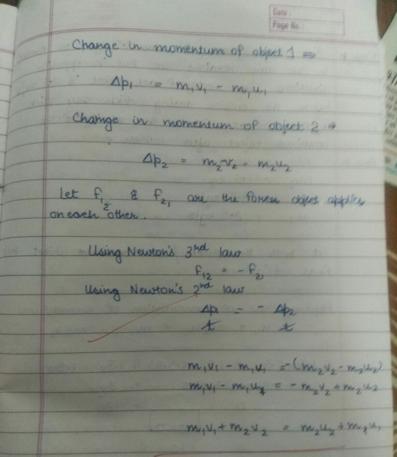 Explain The Law Of Conservation Of Momentum With