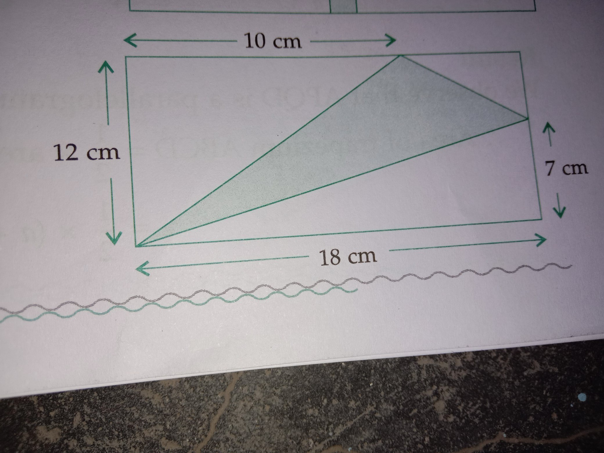 In Adjoining Figure Abcd Is A Rectangle Find The Area Of