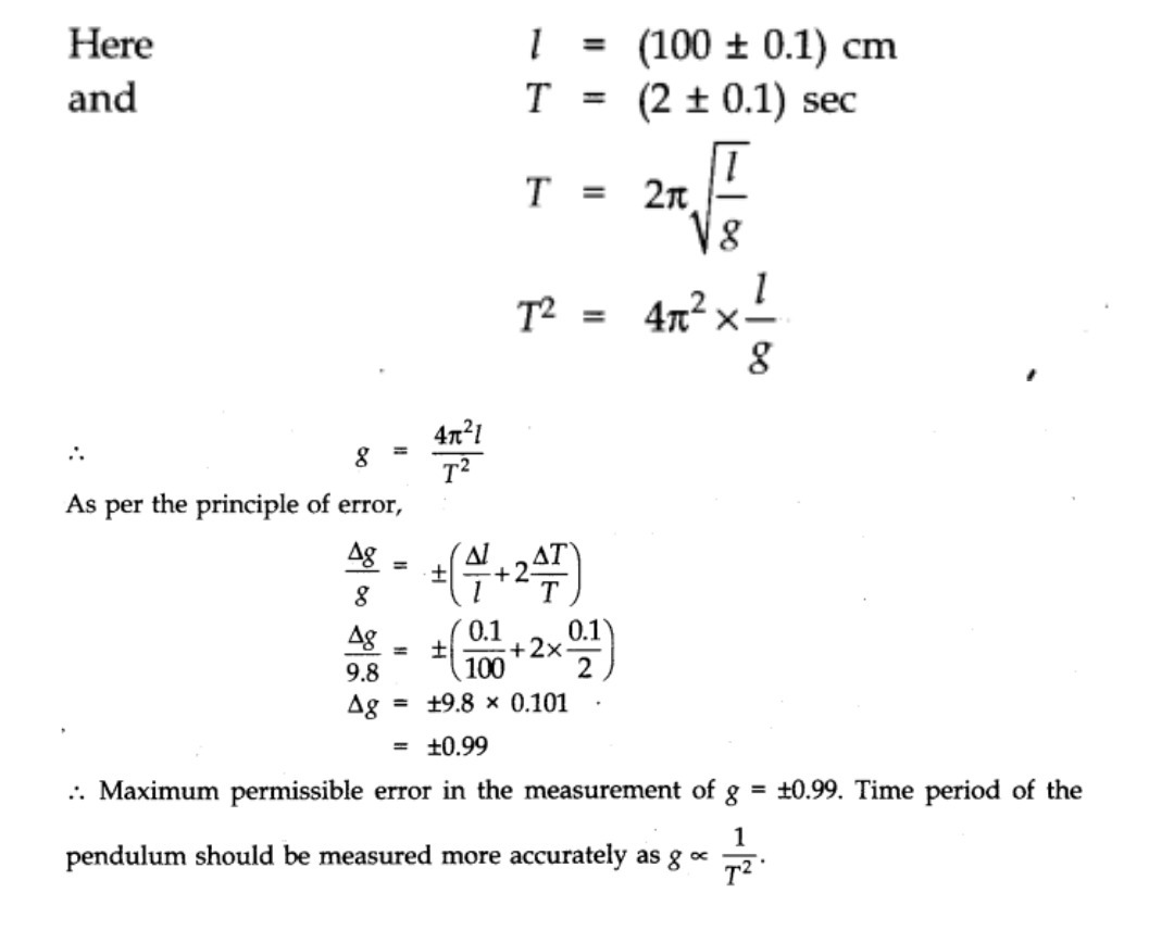 To Find The Value Of G By Using Simple Pendulum The