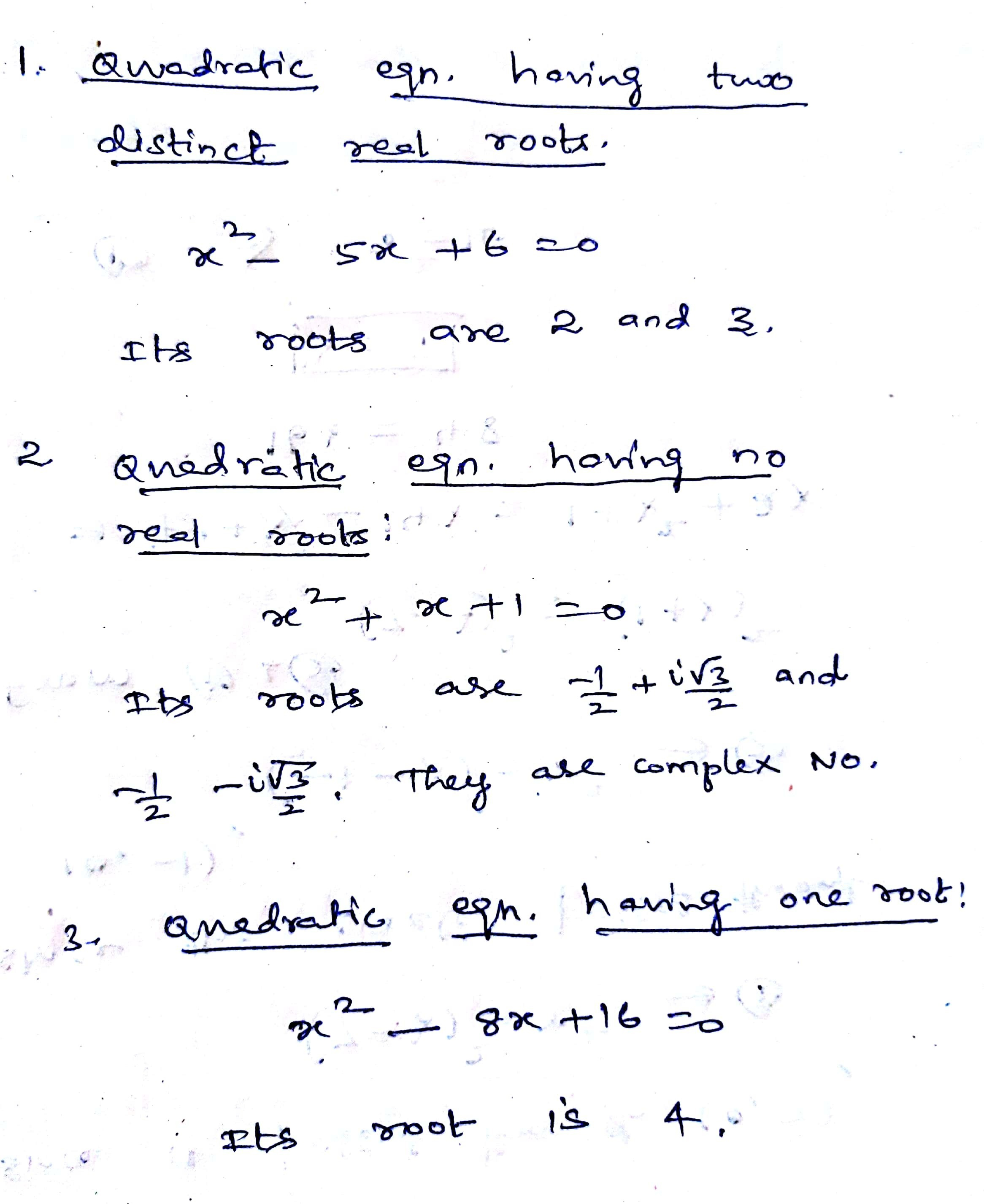 When Does A Quadratic Equation Have No Real Solution