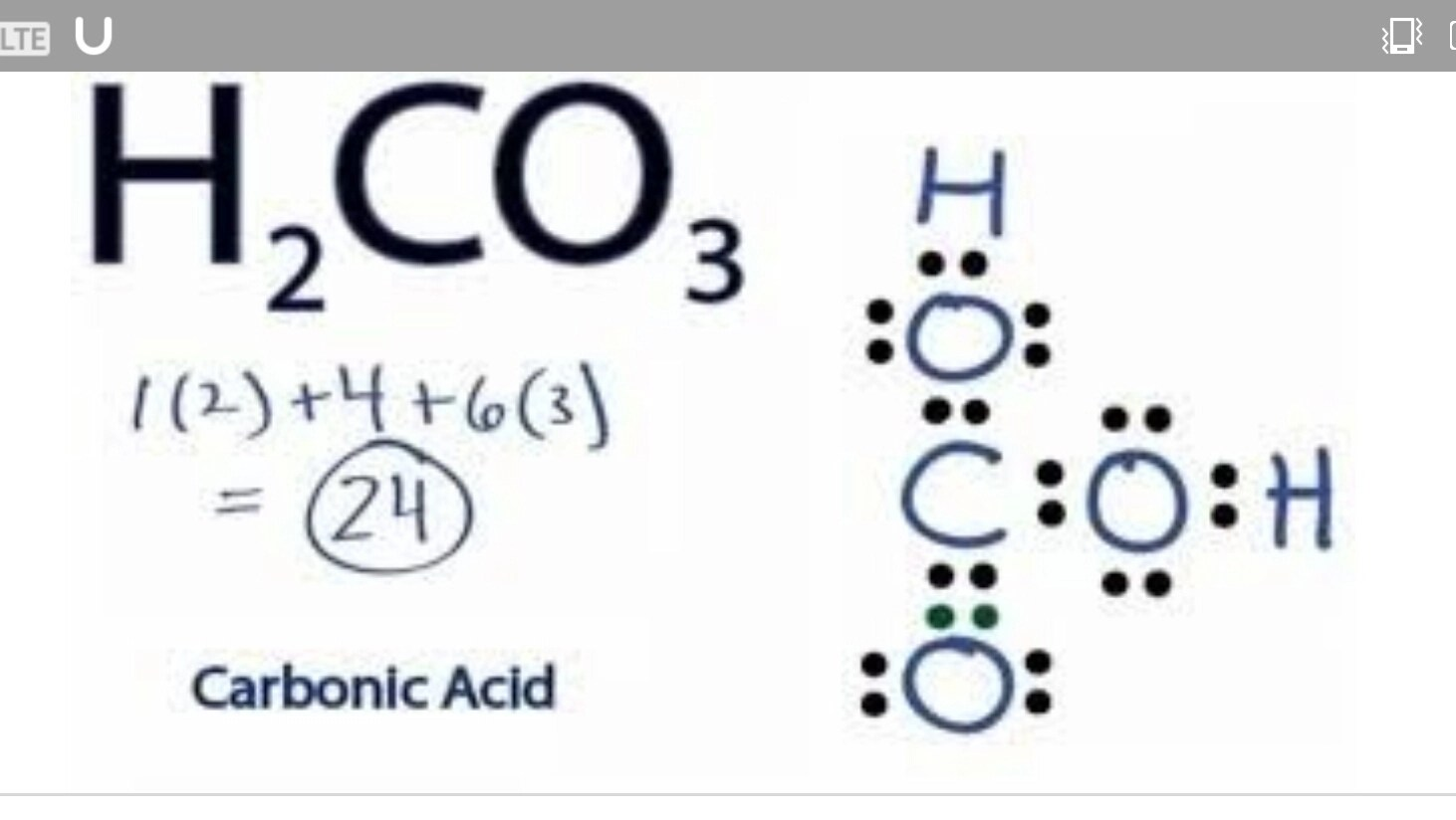 Draw The Lewis Dot Structure Of H2co3