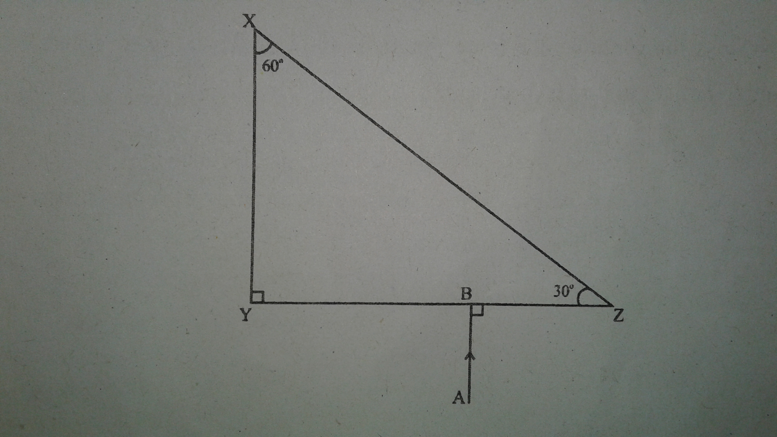The Following Diagram Shows A 60 Degree 30 Degree And 90