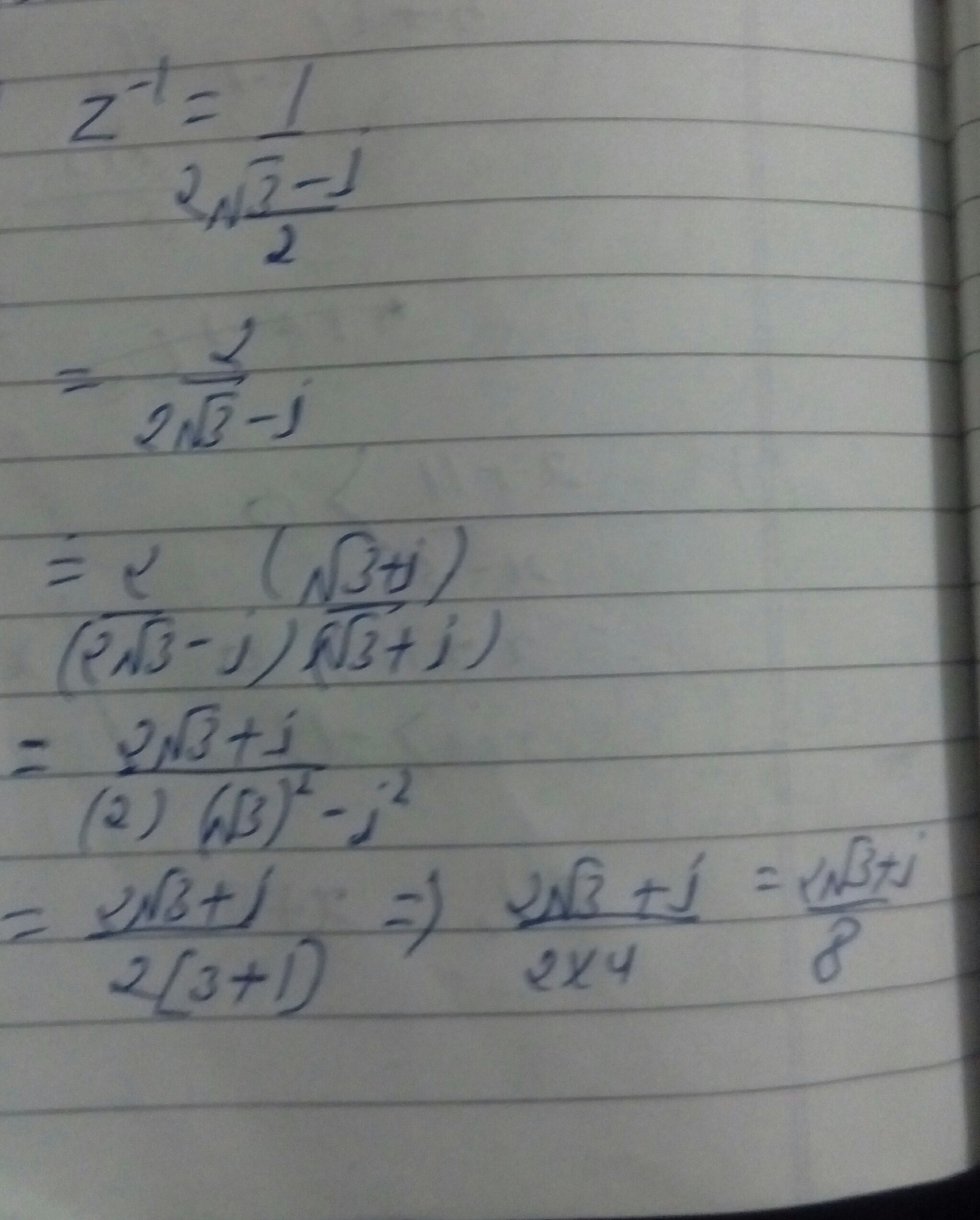 Find The Multiplicative Inverse Of 3 I 2