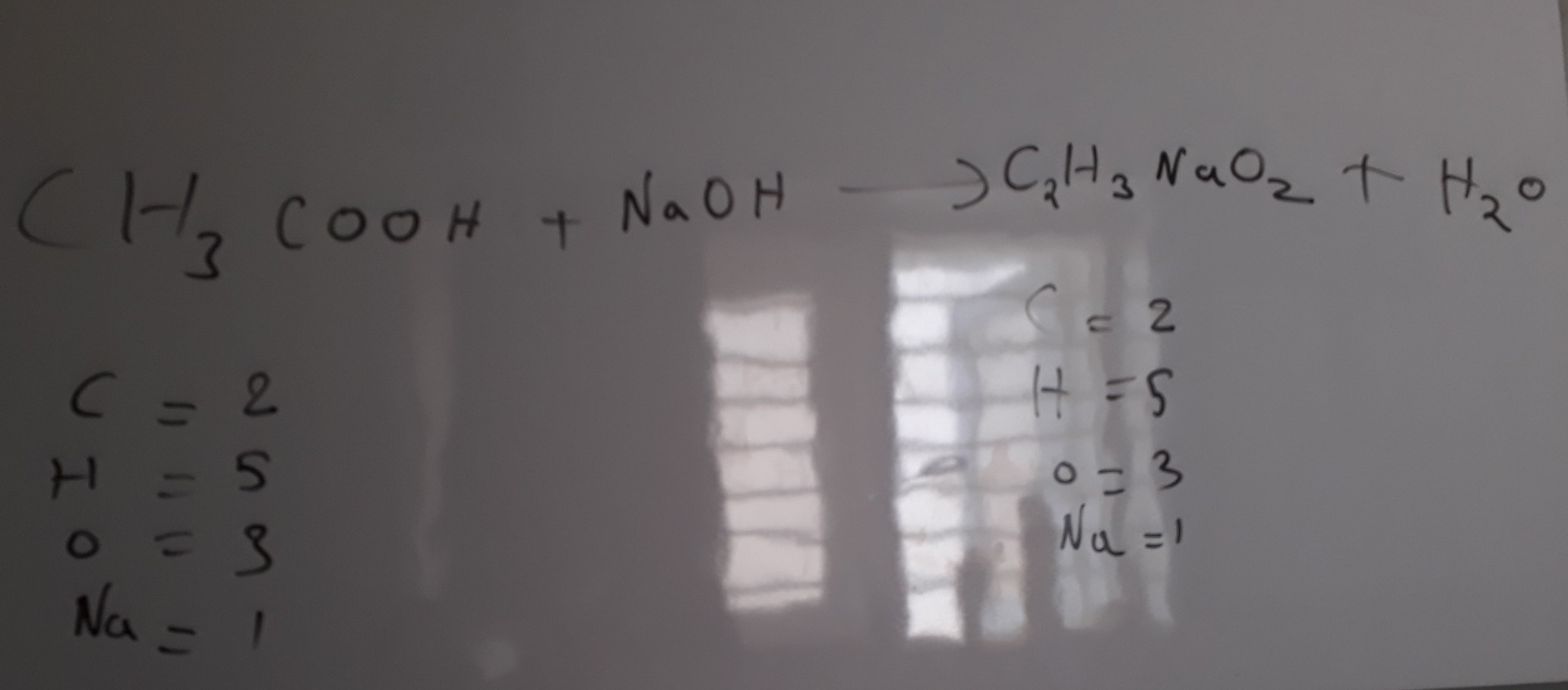 Balanced Chemical Equation For Water And Sodium Hydroxide