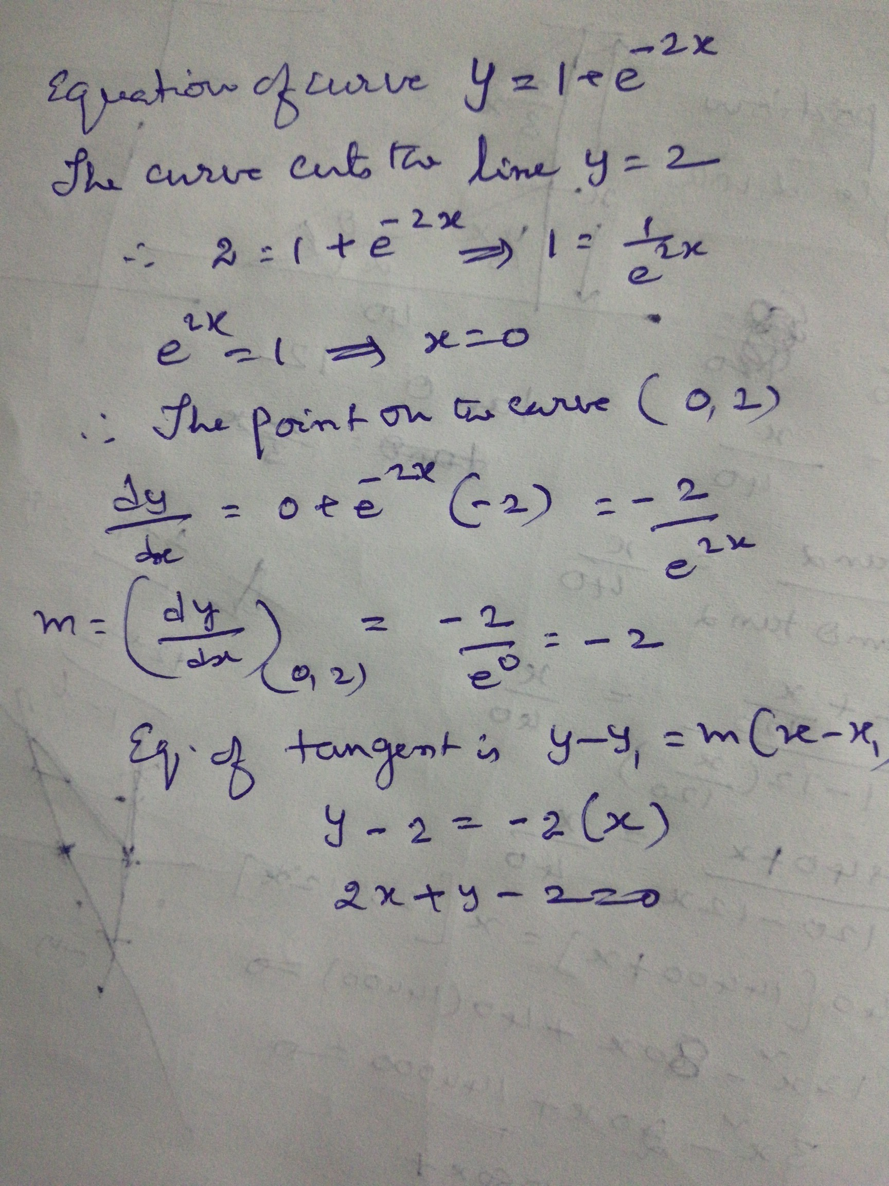 Find An Equation Of The Tangent Line To Curve At Point 1 E