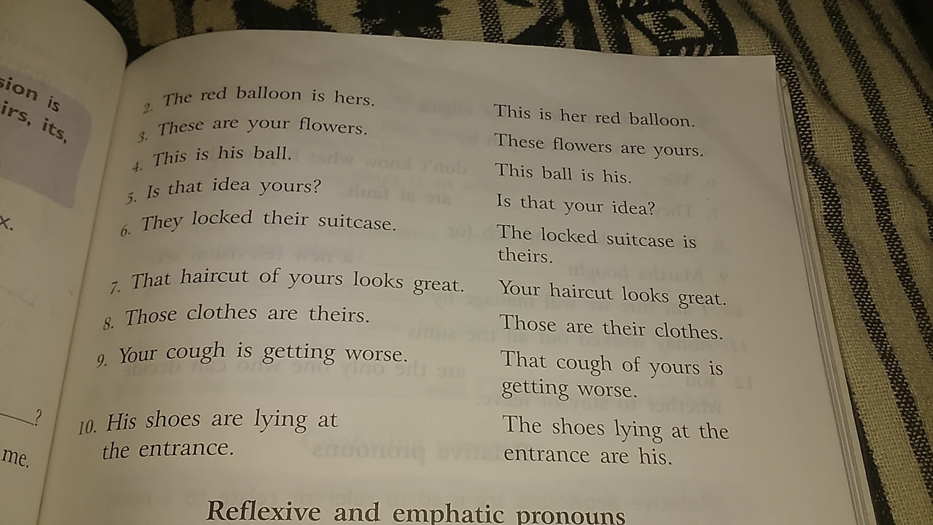 Read The Following Pairs Of Sentences Underline The