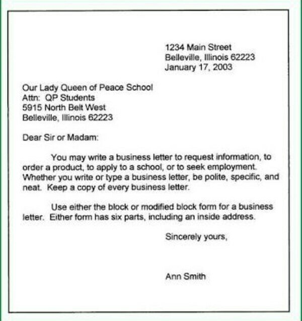Letter Writing Format For Class 9 Brainly In