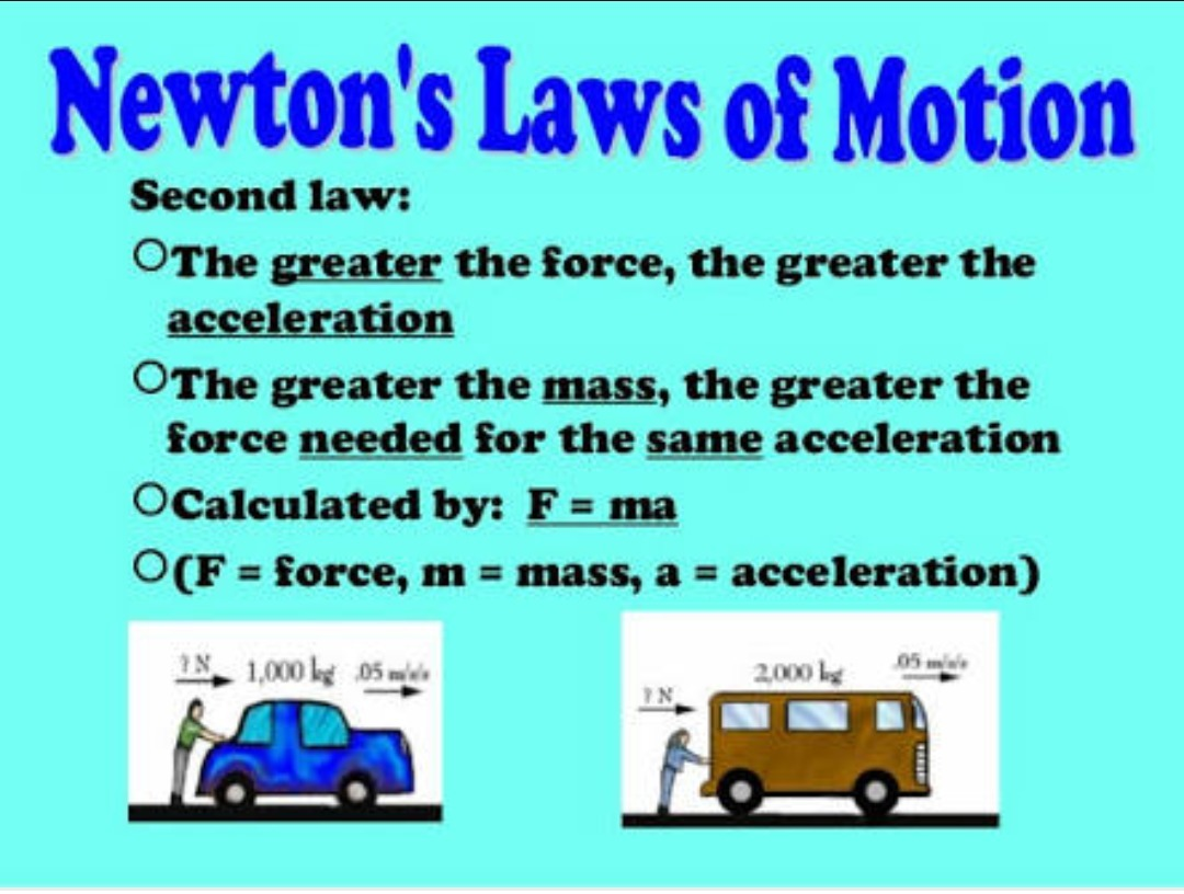 Examples Of Newton S Second Law Of Motion