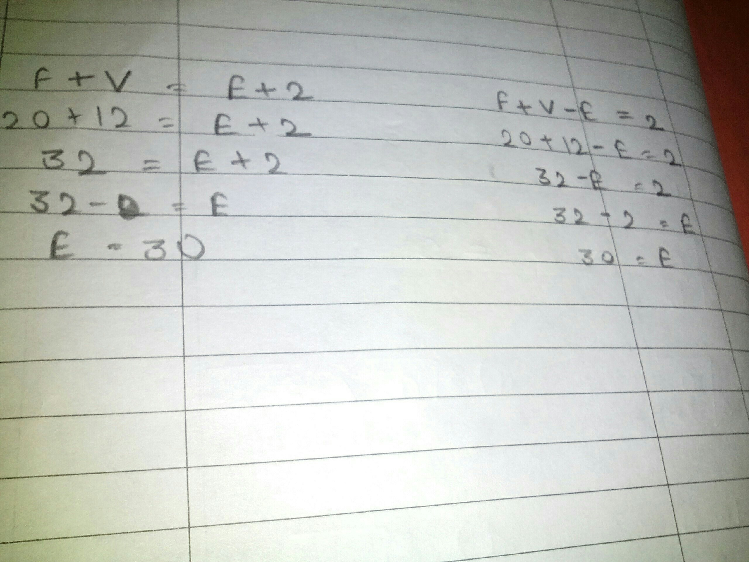 Using Her Euler S Formula Solve When Faces 20 Vertices