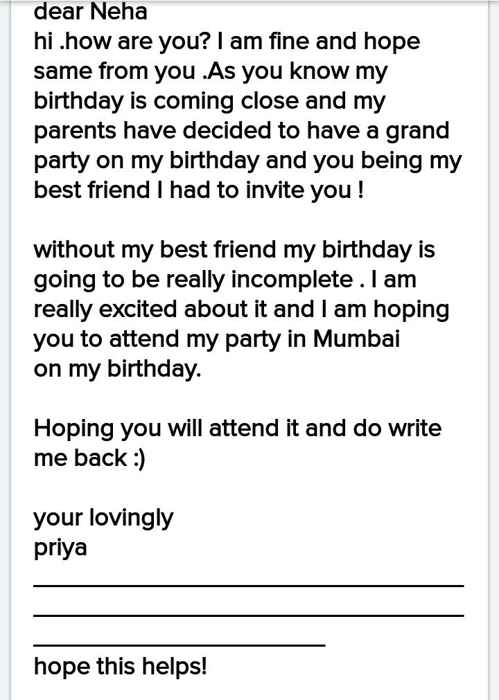 friend inviting for birthday party