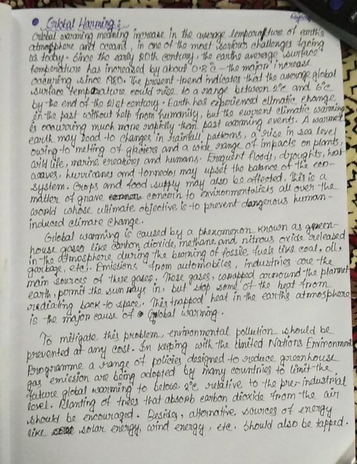 Essay On Global Warming In English 500 Words   Mistyhamel