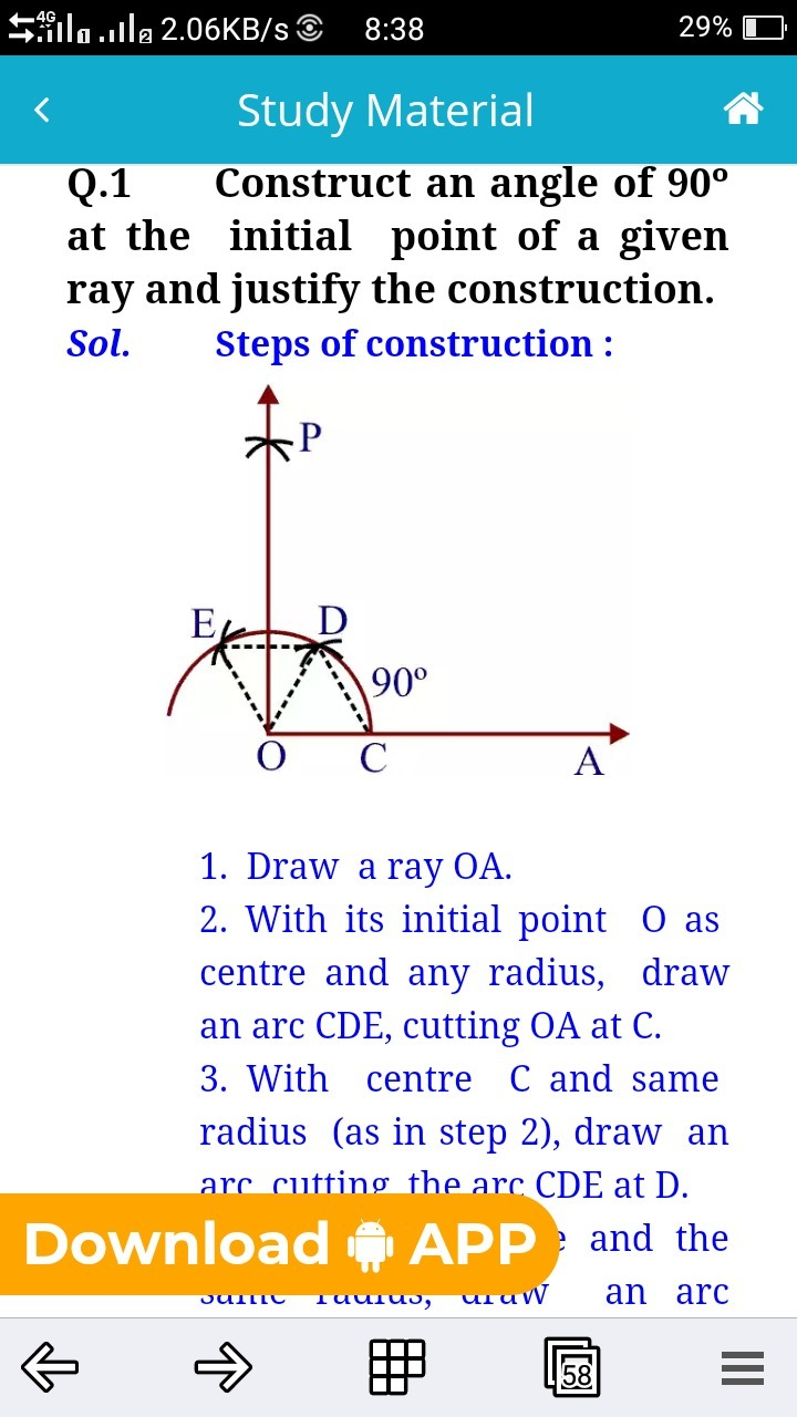 justification construction 90 degree