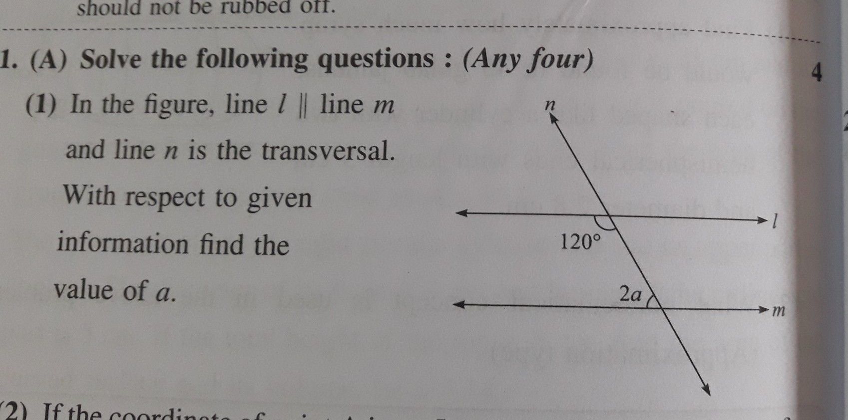 34 In The Diagram Below Line L Is Parallel To Line M And