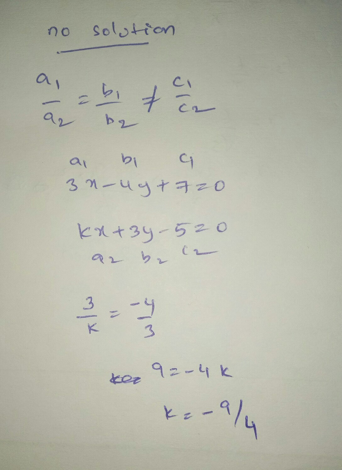 Write A System Of Equations That Has No Solution