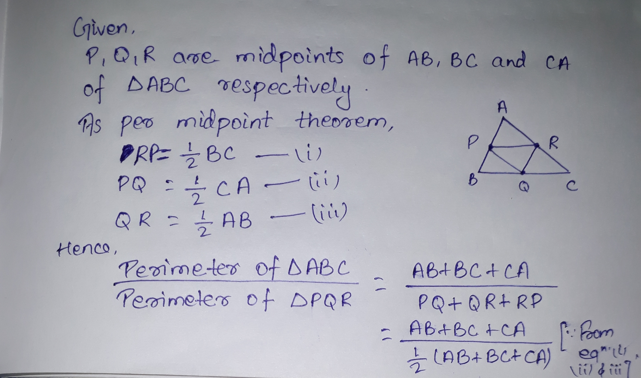 In The Diagram Ab 10 And Ac What Is The Perimeter Of Abc