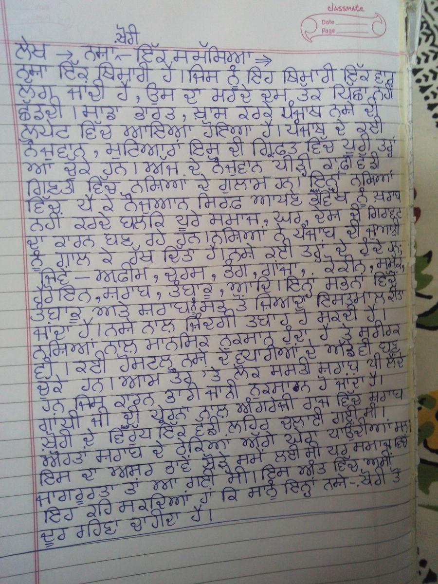 Vidyarthi Ate Fashion Essay In Punjabi Language | Bestletters co