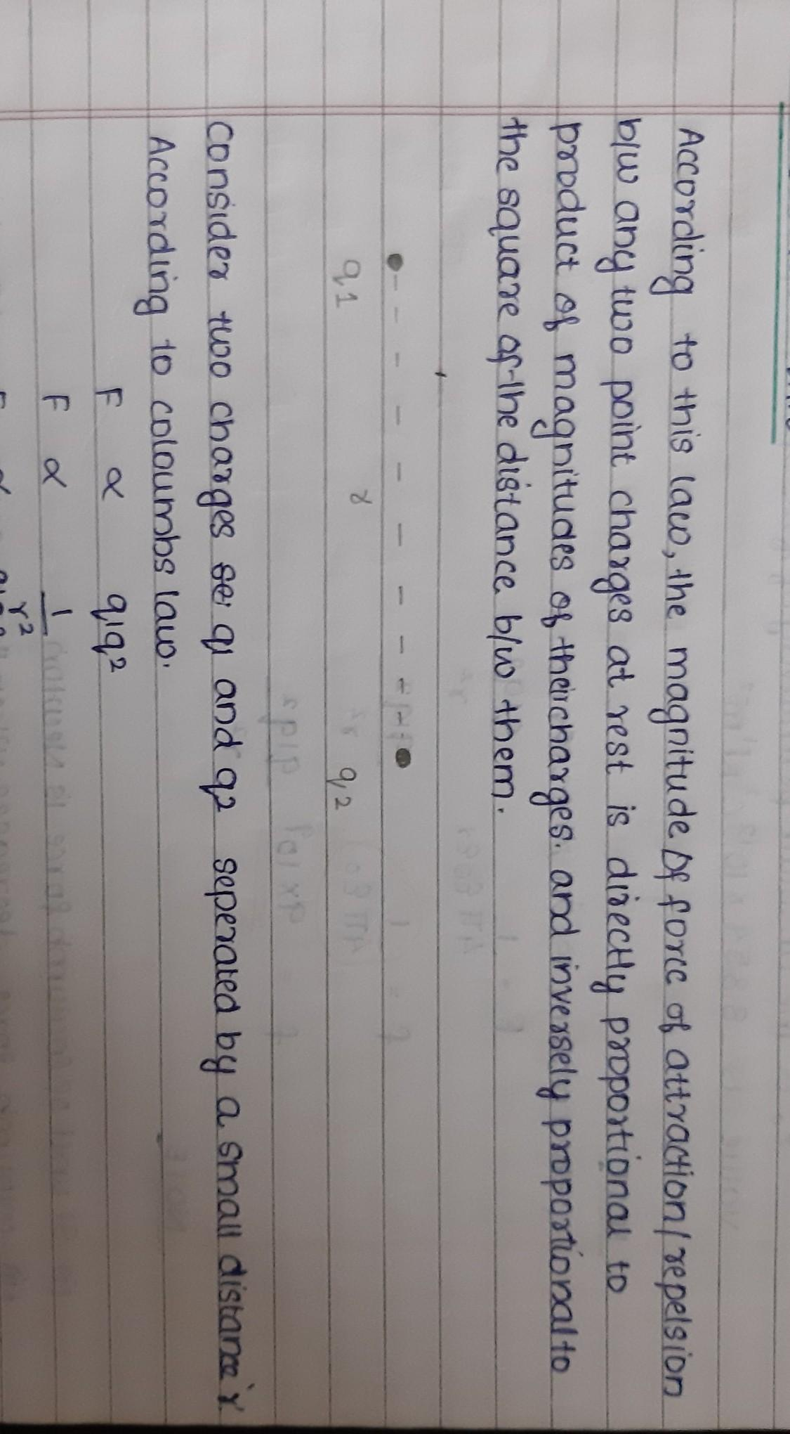 State And Explain Coulomb S Law In Electrostatics For 3
