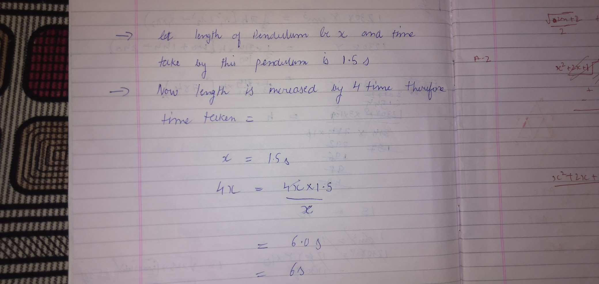 Time Period Of Simple Pendulum Is 1 5 Seconds If The