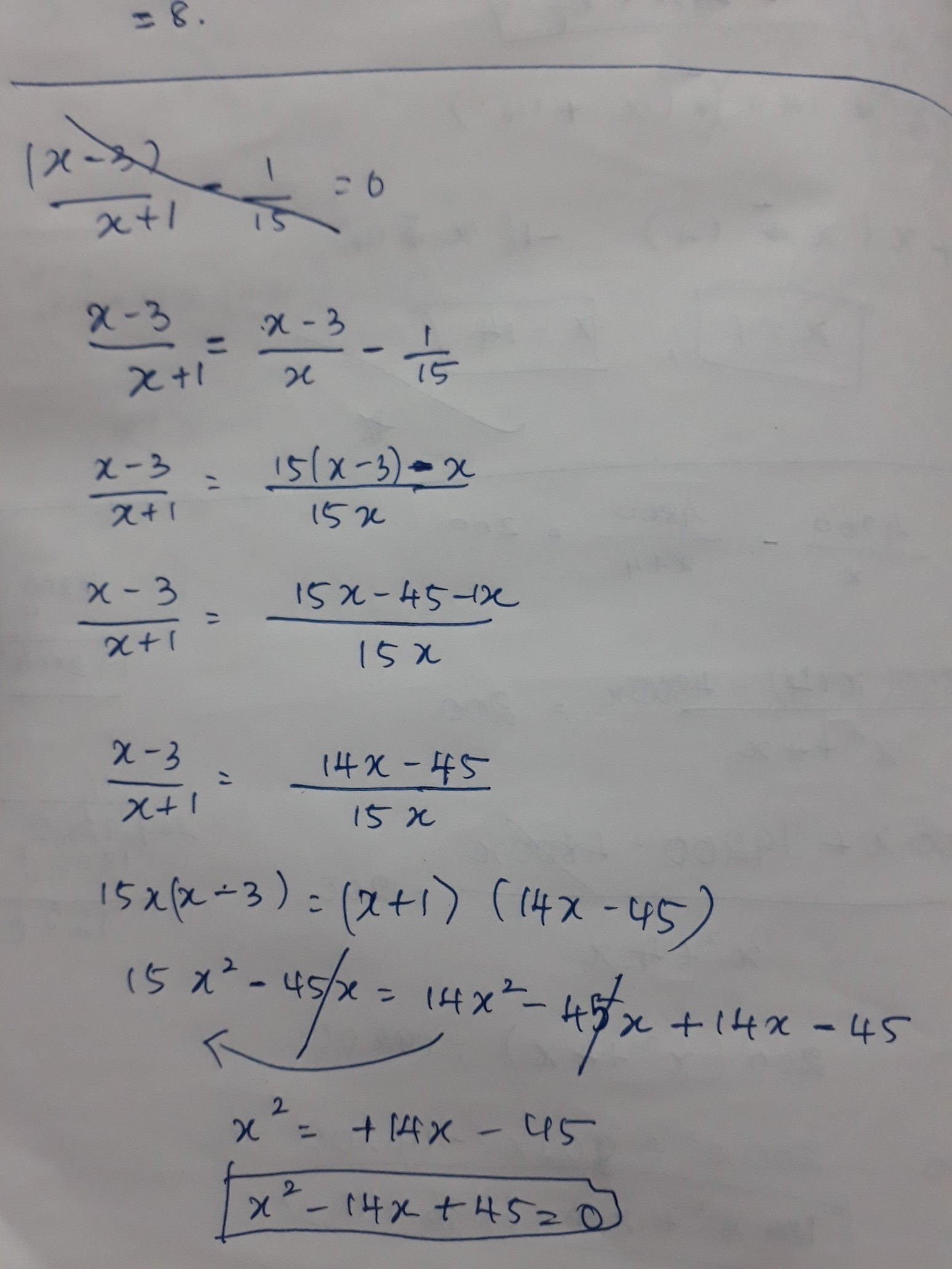 Numerator Of Fraction Is 3 Less Than Its Denominator If 1