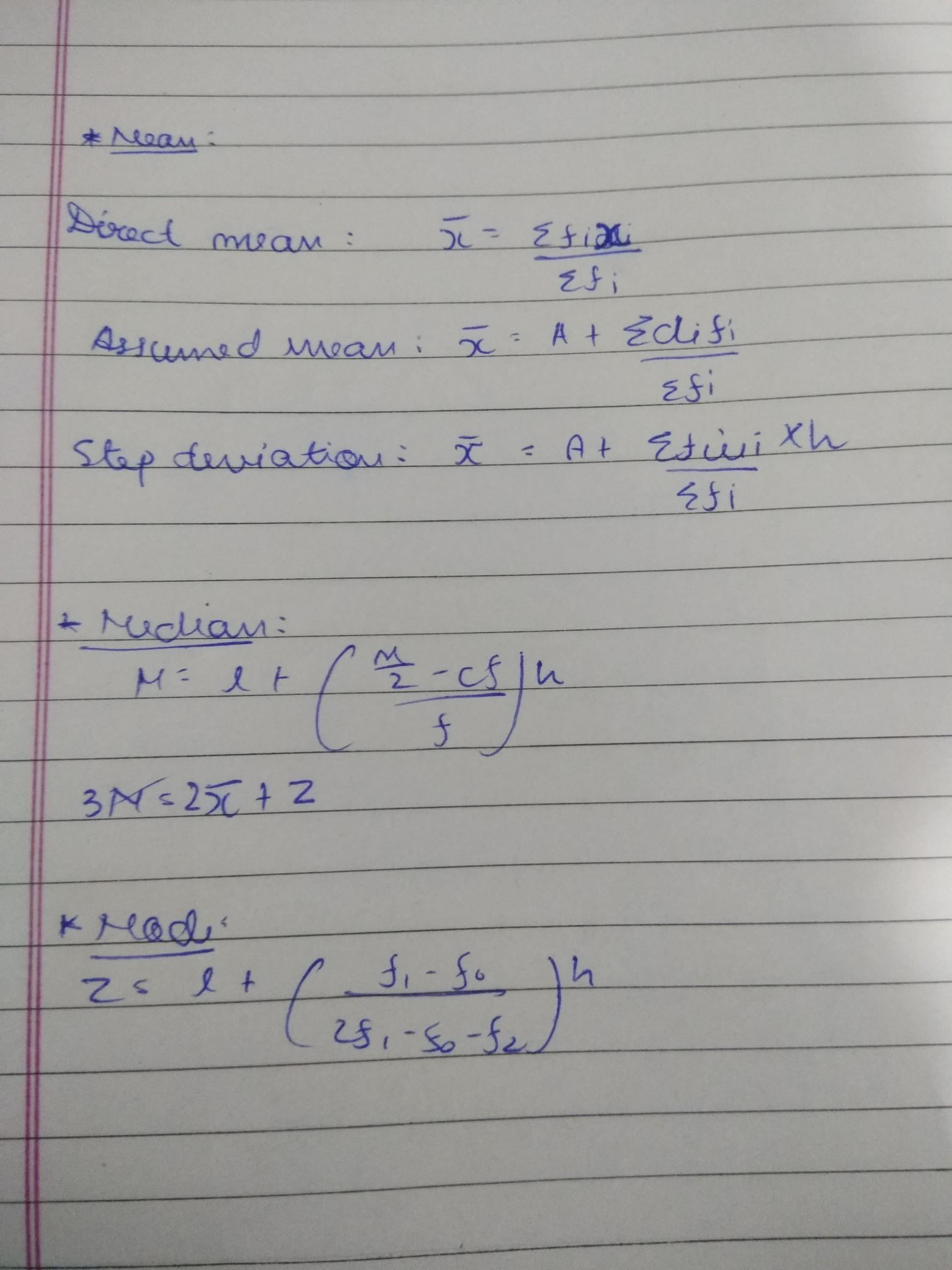 What Is The Formula Of Mean Median Mode